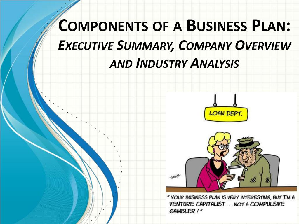 ppt components of a business plan executive summary company