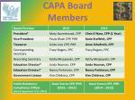 capa board members