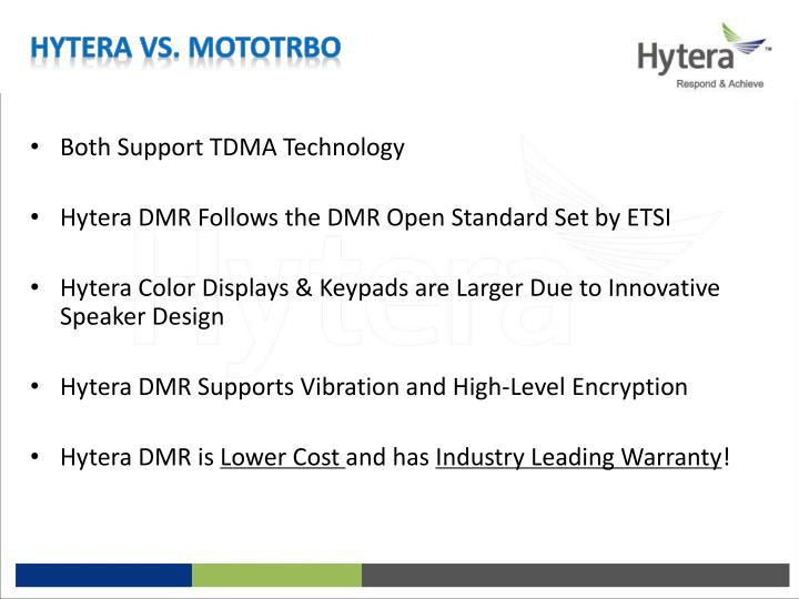 Hytera vs. MotoTrbo