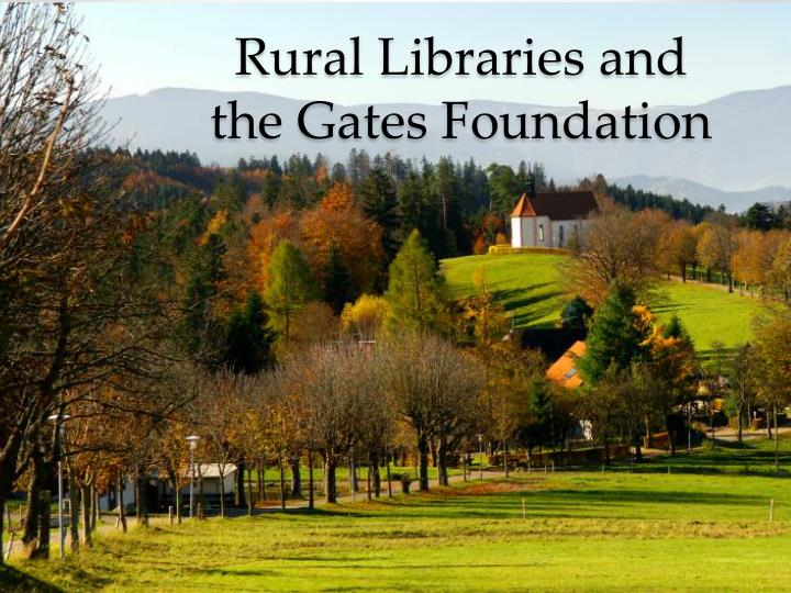 Rural Libraries and