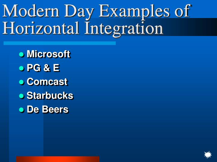 Modern Day Examples of Horizontal Integration