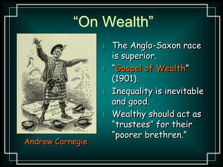 """On Wealth"""
