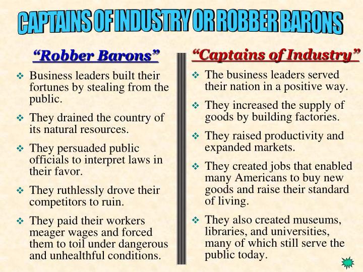 """""""Robber Barons"""""""