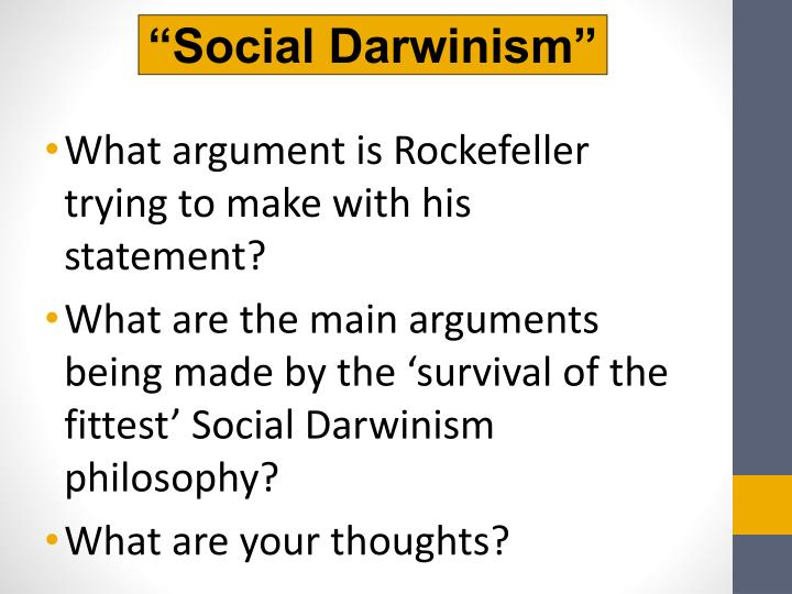"""Social Darwinism"""