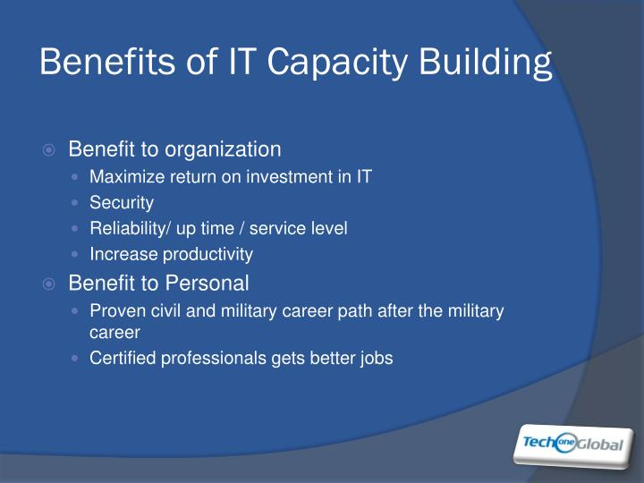 Benefits of IT Capacity Building