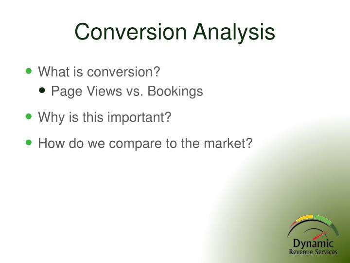 Conversion Analysis