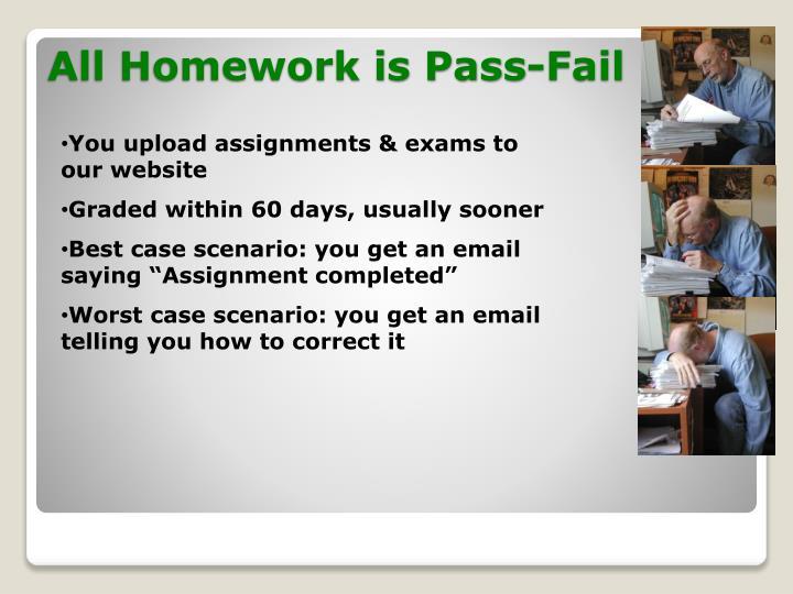 All Homework is Pass-Fail