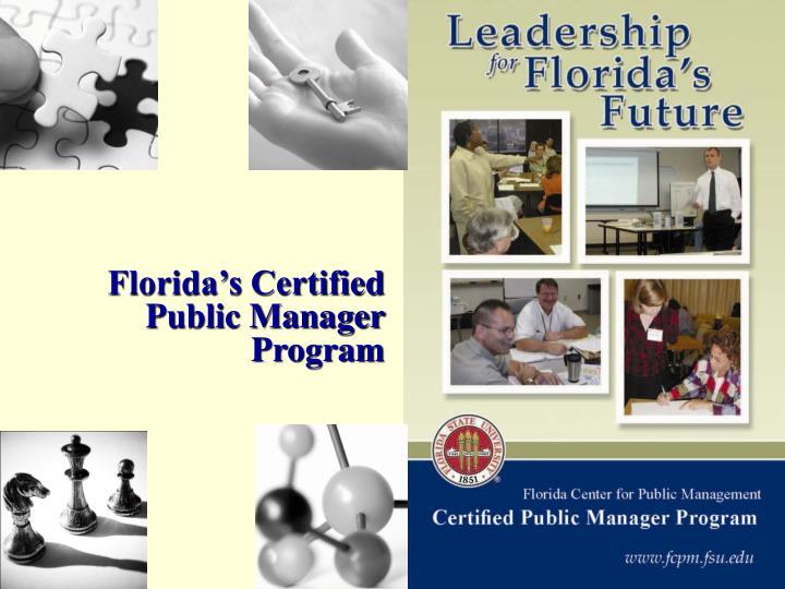 Florida's Certified Public Manager Program