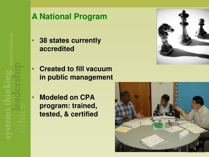 A National Program