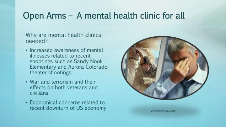 Open arms a mental health clinic for all