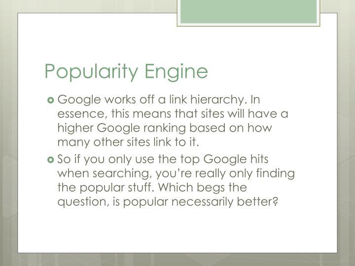 Popularity Engine