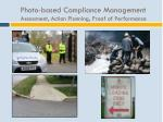 photo based compliance management assessment action planning proof of performance