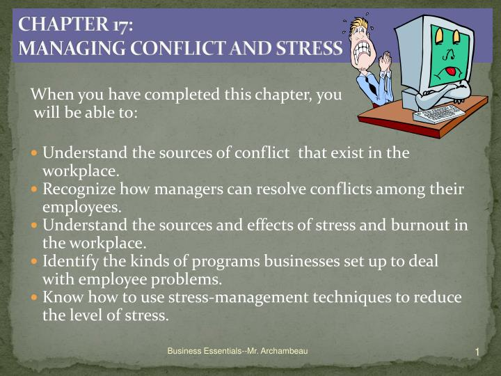 chapter 17 managing conflict and stress n.