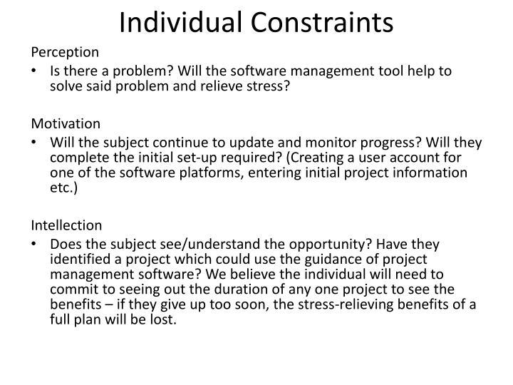 Individual Constraints