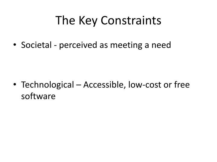 The Key Constraints