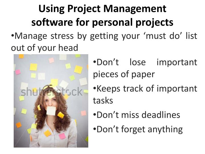 Using Project Management software for personal projects