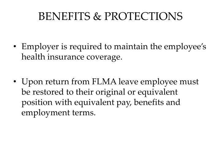 BENEFITS & PROTECTIONS