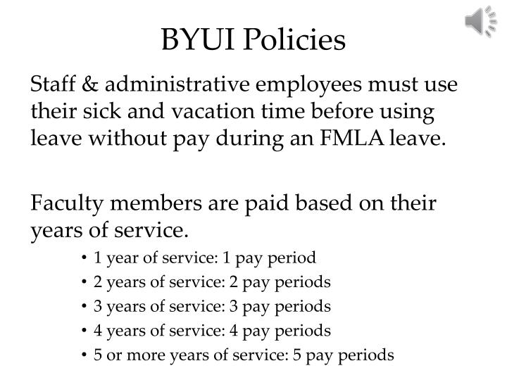 BYUI Policies