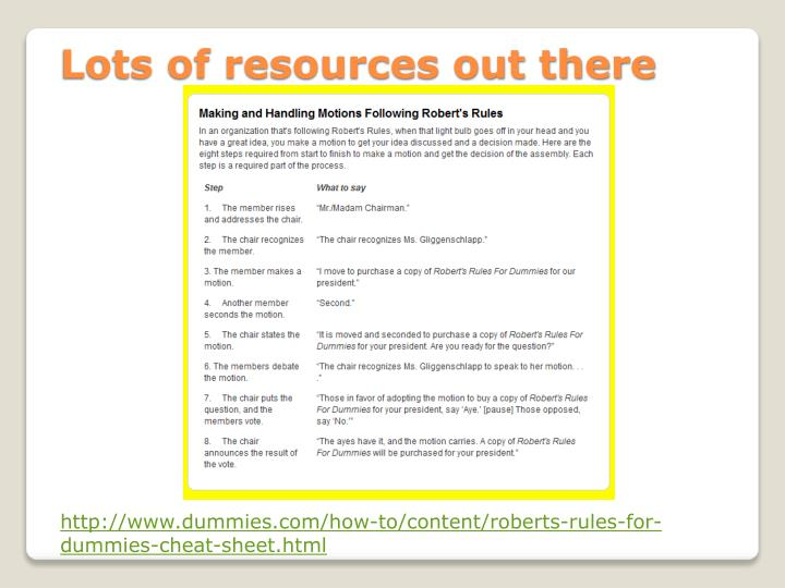 Lots of resources out there