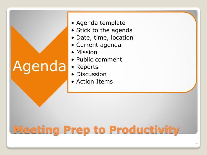 Meeting Prep to Productivity