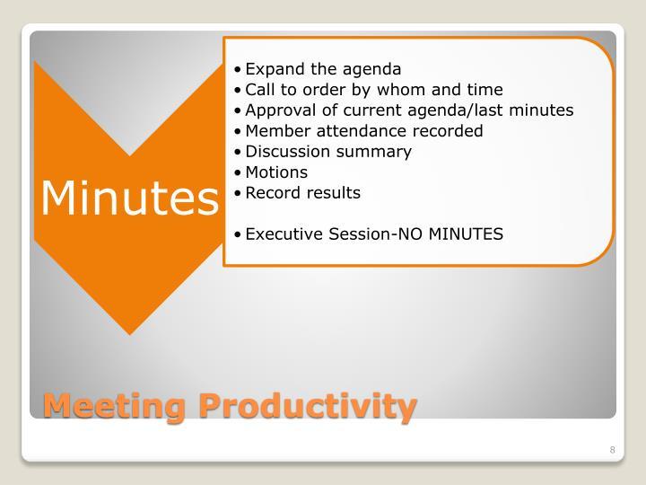 Meeting Productivity