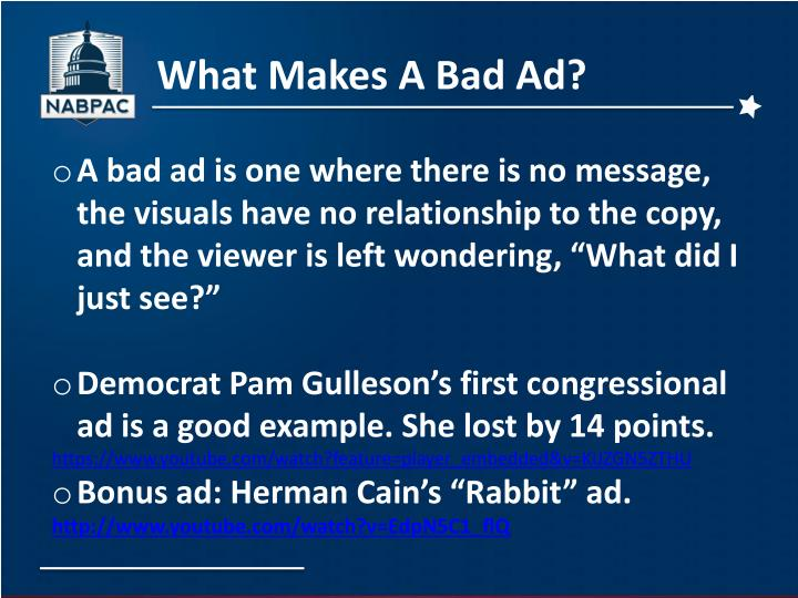 What Makes A Bad Ad?