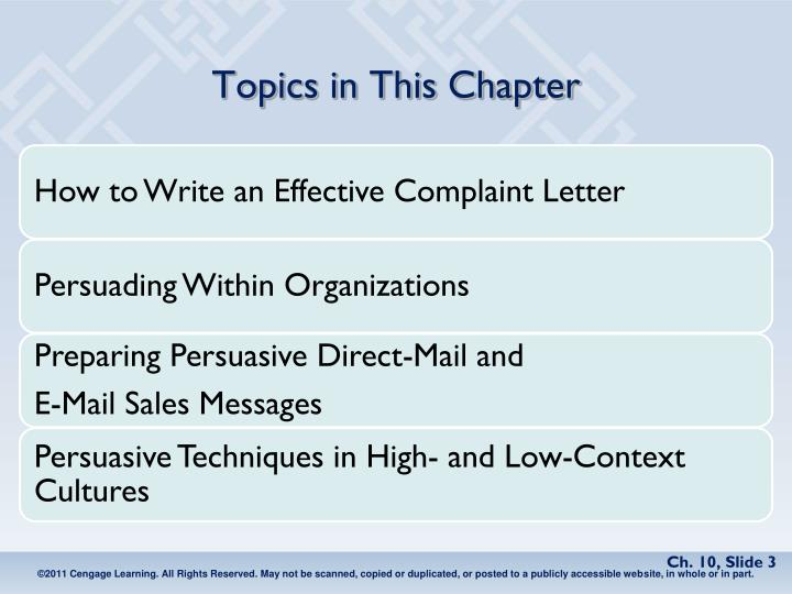 PPT - Chapter 10 Persuasive and Sales Messages PowerPoint ...