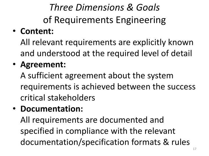 Three Dimensions & Goals