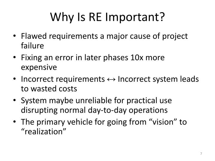 Why Is RE Important?