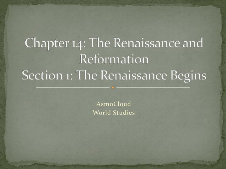 a report on reformation and rennaissance