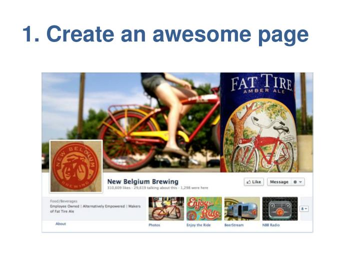 1. Create an awesome page