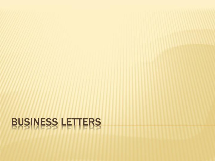 business letters n.