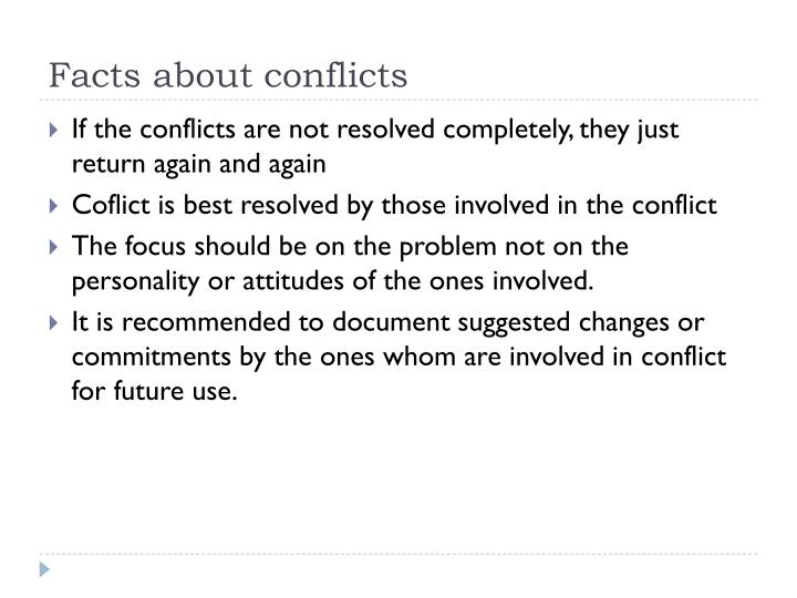Facts about conflicts