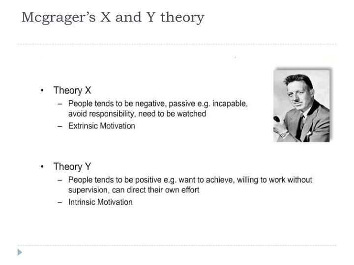 Mcgrager's X and Y theory