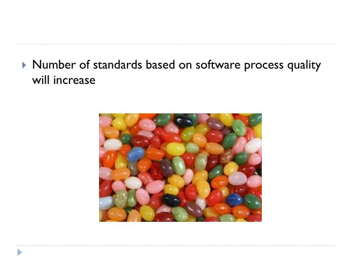 Number of standards based on software process quality will increase