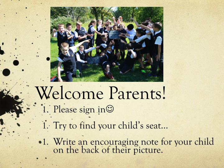 welcome parents n.