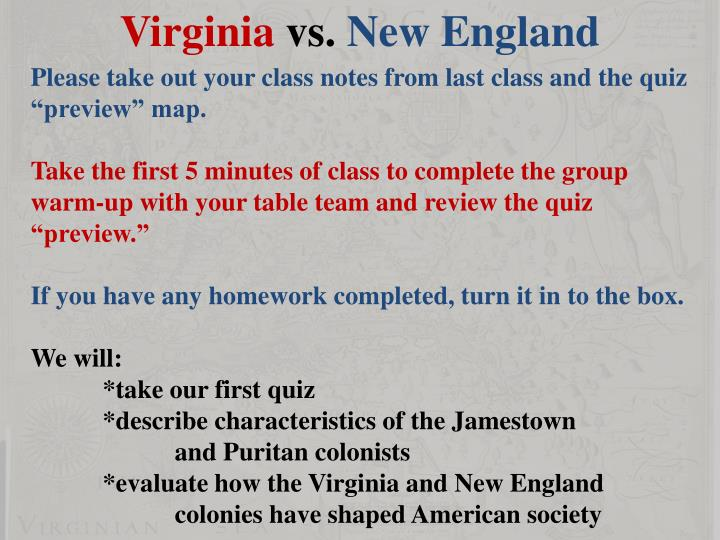 virginians and the puritans The puritans who settled the new england colonies in massachusetts bay placed a high importance on creating a fully functional society in order to create this fully functional society the puritans relied heavily on family life, and according to the essay the godly family of colonial massachusetts, never thought of the family as purely a.