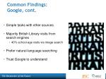 common findings google cont