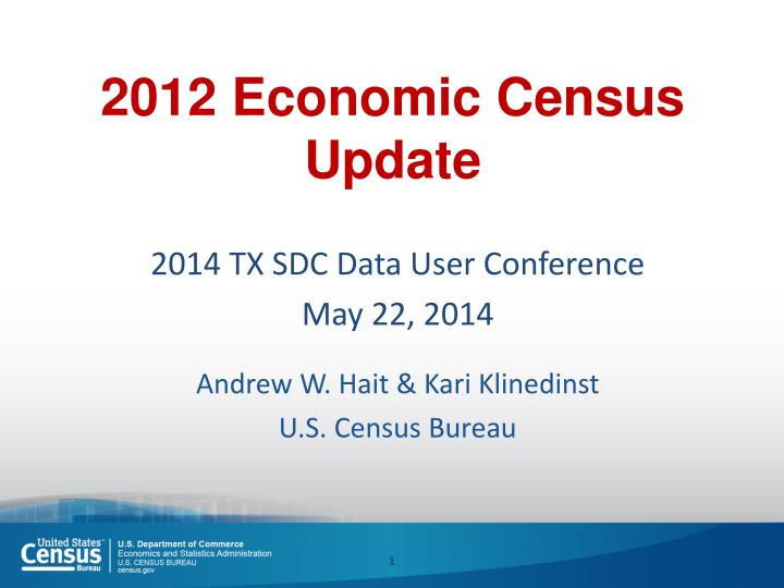 2012 economic census update n.