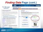 finding data page cont
