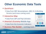 other economic data tools