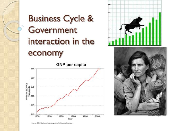 Business cycle government interaction in the economy