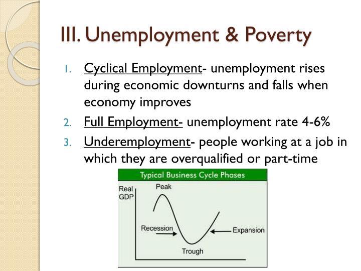 III. Unemployment & Poverty