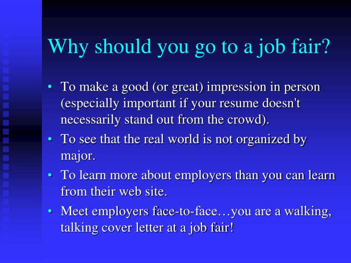 Why should you go to a job fair