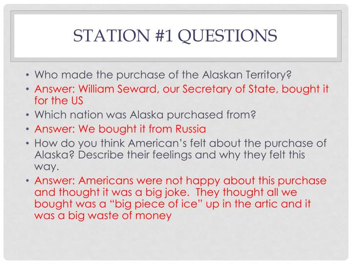Station #1 Questions