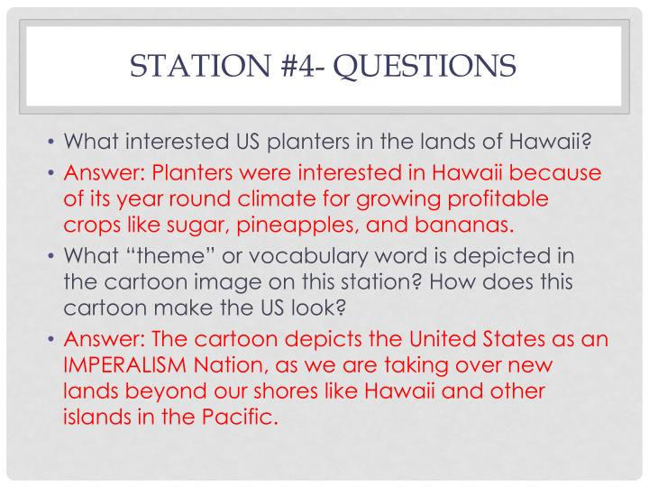 Station #4- Questions