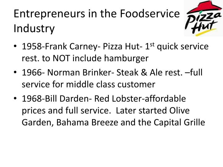 Entrepreneurs in the Foodservice Industry