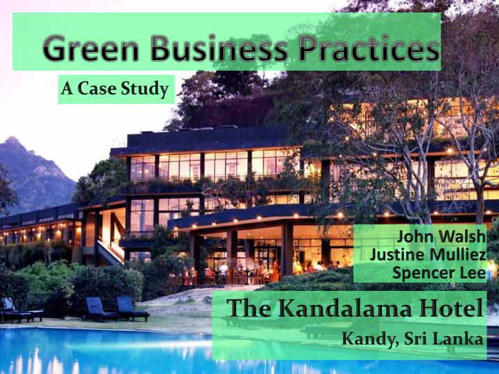 green business practices n.