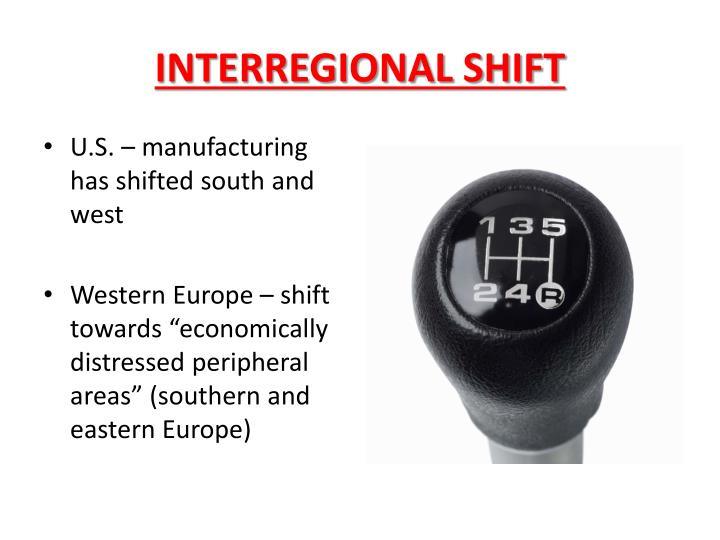 INTERREGIONAL SHIFT