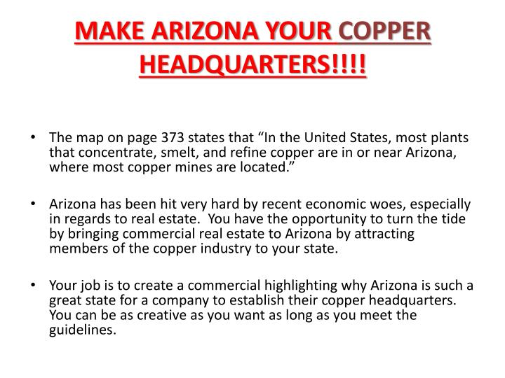 MAKE ARIZONA YOUR